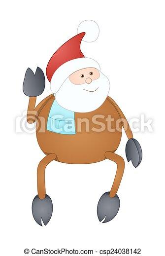 Gracioso reno Santa Claus - csp24038142