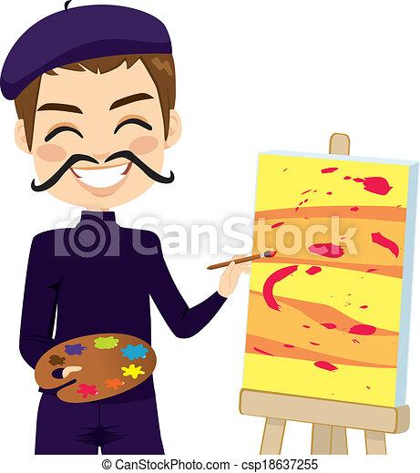Divertido artista abstracto - csp18637255
