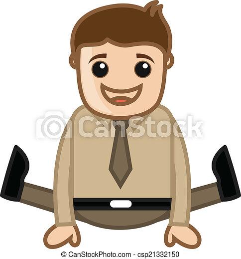 Un gracioso hombre de negocios saltando - csp21332150