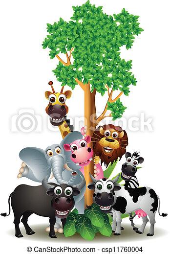 Un divertido animal de safari de dibujos animados - csp11760004