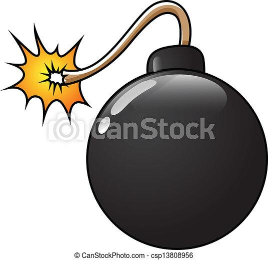 Graciosa ilustración del vector de bombas - csp13808956