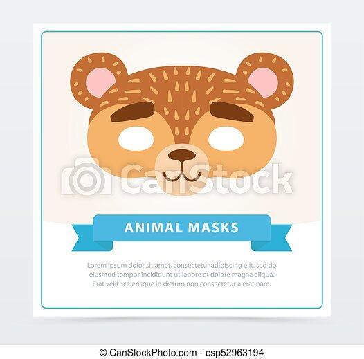 Una Máscara Graciosa De Bozal De Oso Personaje Animal
