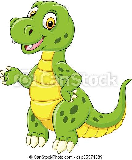 Un Gracioso Dinosaurio Verde Ilustracion De Dinosaurios Verdes Divertidos Canstock Toda la prehistoria podría encontrarse en coahuila: un gracioso dinosaurio verde