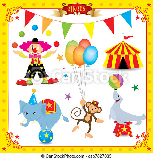 divertimento, circo, set - csp7827035