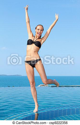 divertimento, piscina - csp9222356