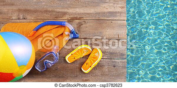 divertimento, verão, fundo - csp3782623