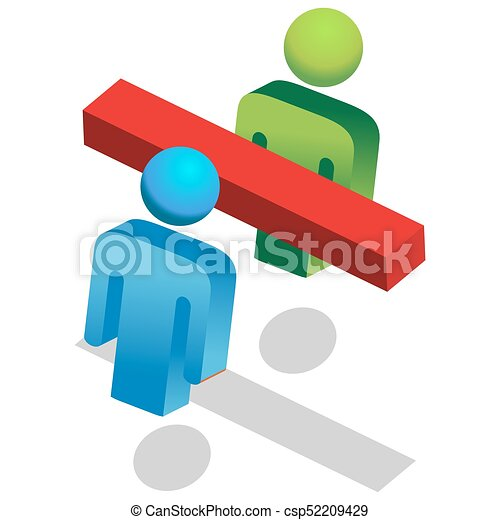 Divided People Symbol - csp52209429