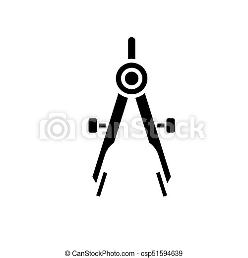 divider icon, vector illustration, black sign on isolated background - csp51594639
