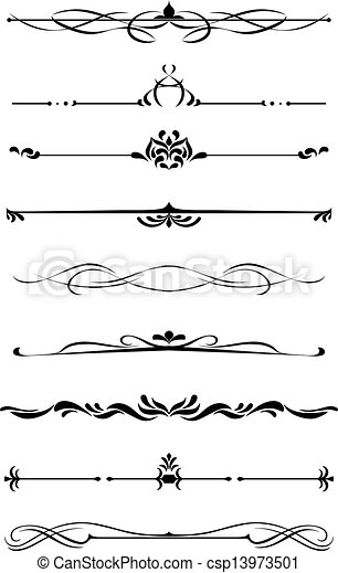 Dividers and borders set - csp13973501