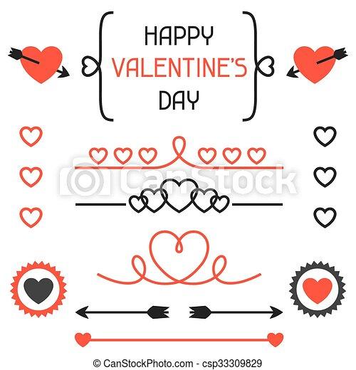 Feliz Día De San Valentín Set De Decoración Divisores