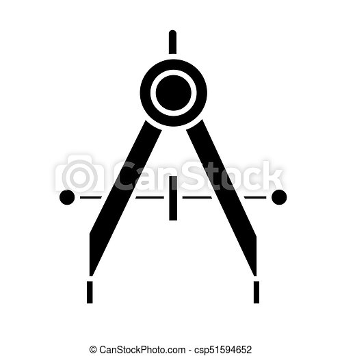 dividers icon, vector illustration, black sign on isolated background - csp51594652