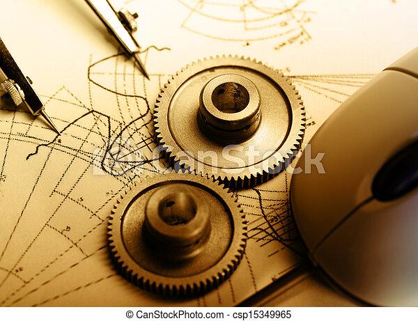 dividers, opstellen, mechanisch, ratchets - csp15349965