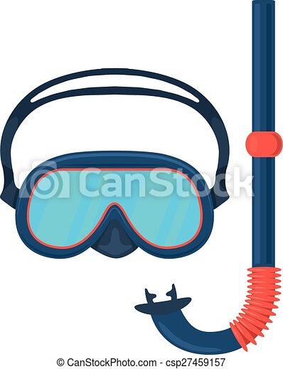 diving goggles mask isolated icon pictogram eps 10