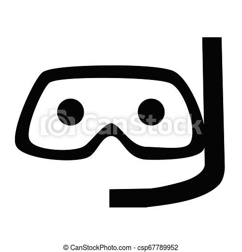Diving mask flat illustration on white - csp67789952