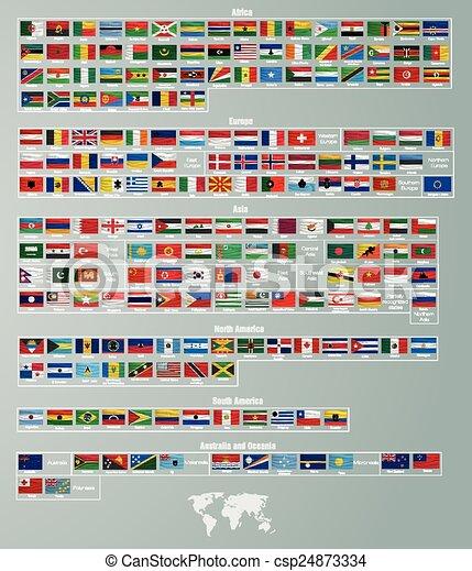divisé, parties, drapeaux, pays - csp24873334