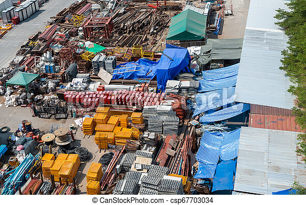 Division of materials used in construction. - csp67703034