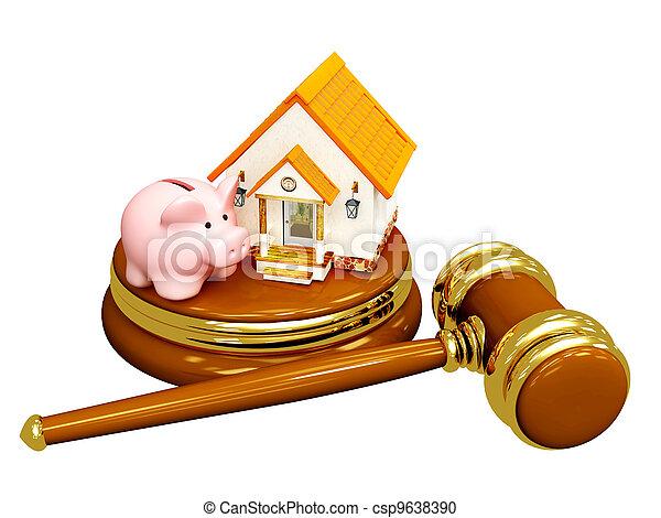 Division of property at divorce - csp9638390