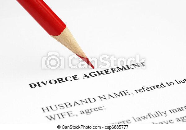 Divorce agreement - csp6885777