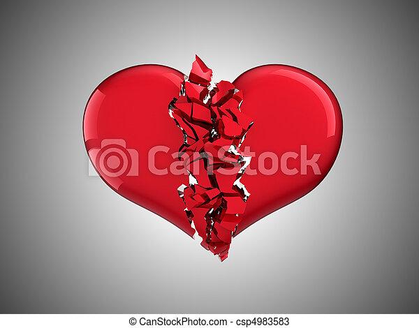 Divorce and love. Broken Heart - csp4983583