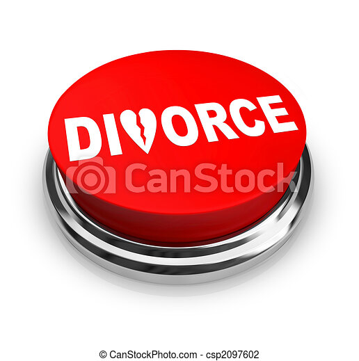divorce, bouton, -, rouges - csp2097602