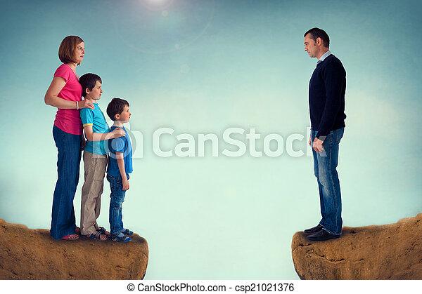 divorce concept family separation - csp21021376