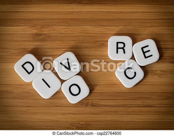Divorce concept with split word - csp22764600