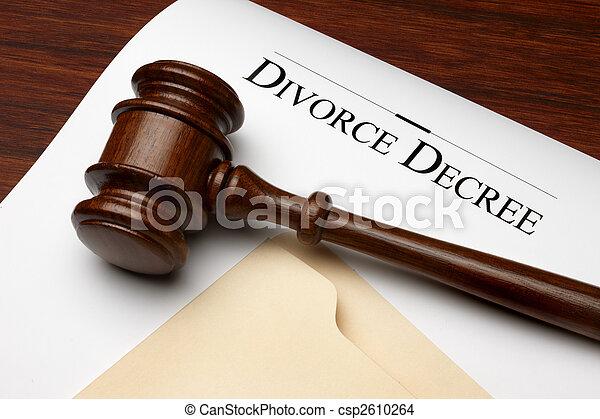 Divorce Decree - csp2610264