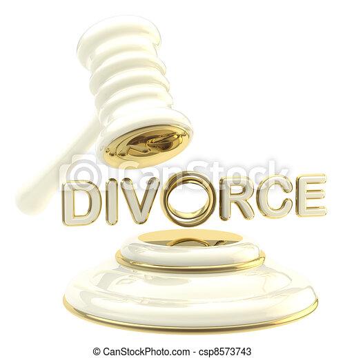 Divorce under the judge gavel isolated - csp8573743