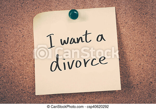 divorce, vouloir - csp40620292