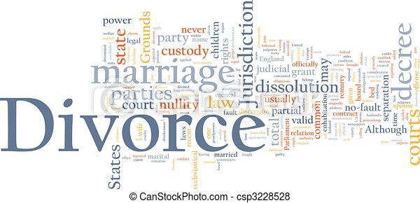 Divorce word cloud - csp3228528
