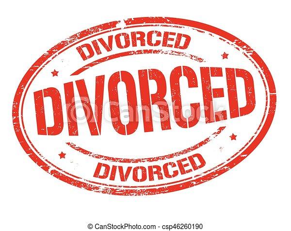 divorced grunge sign or stamp on white background vector illustration