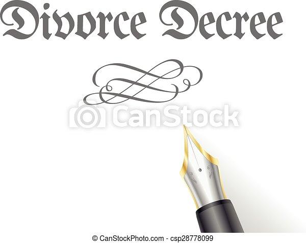 Decreto de divorcio - csp28778099