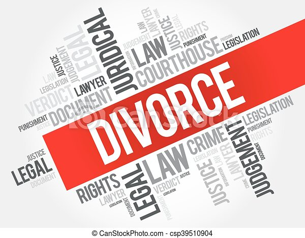 Nube de palabra de divorcio - csp39510904