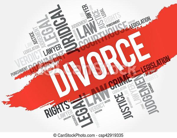 Nube de palabra de divorcio - csp42919335