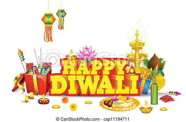 diwali background illustration of decorated diwali diya with gift rh canstockphoto com diwali clipart images diwali clips for children