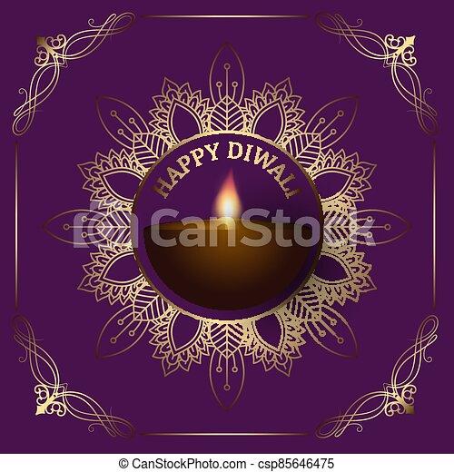 diwali, decorativo, plano de fondo, frontera, 2809 - csp85646475
