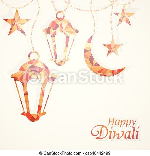 Diwali festival greeting card traditional indian festival eps diwali festival greeting card csp40442499 m4hsunfo