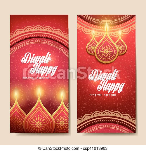 Happy diwali festival greeting text card with candle decorations diwali festival greeting csp41013903 m4hsunfo