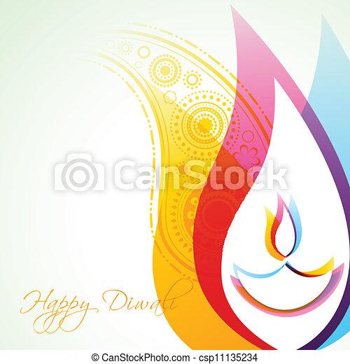 diwali, fond, créatif - csp11135234