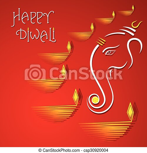 Happy diwali greeting card design vector diwali greeting card design csp30920004 m4hsunfo