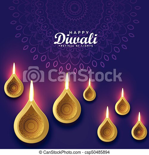 Diwali greeting card design with golden diya diwali greeting card design with golden diya csp50485894 m4hsunfo