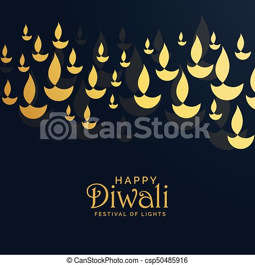 Diwali greeting card design with floating golden diya diwali greeting card design with floating golden diya csp50485916 m4hsunfo