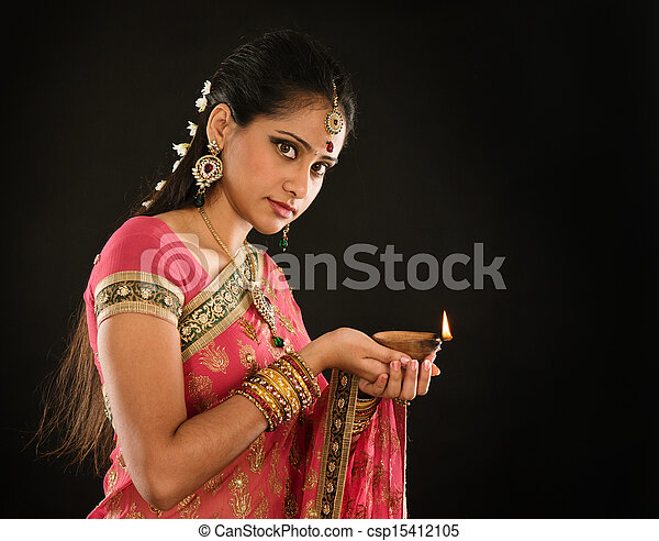4bec37bdc5 Diwali indian girl. Portrait of beautiful young indian woman in ...