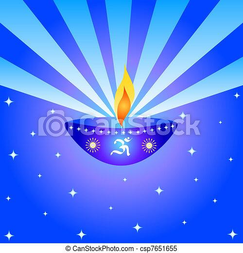 Diwali Lamp Stock Illustration
