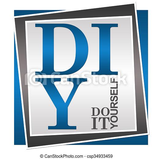 Diy do it yourself blue grey diy do it yourself stock diy do it yourself blue grey csp34933459 solutioingenieria Images