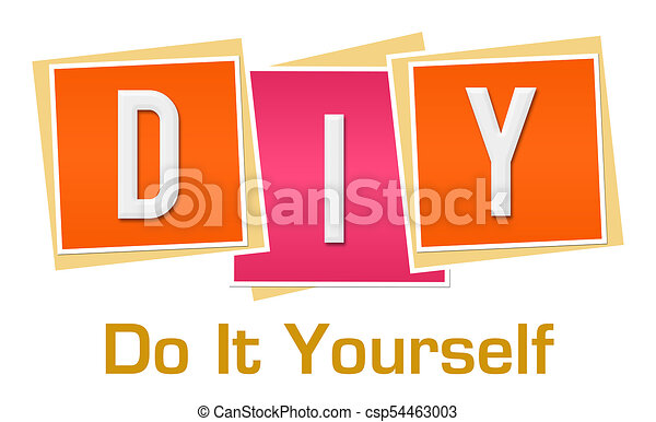 Diy do it yourself pink orange blocks diy text alphabets written diy do it yourself pink orange blocks csp54463003 solutioingenieria Image collections