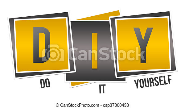 Diy do it yourself yellow black diy do it yourself text over diy do it yourself yellow black csp37300433 solutioingenieria Image collections