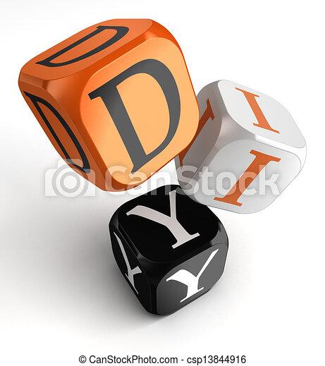 Diy orange black dice blocks do it yourself orange black diy orange black dice blocks csp13844916 solutioingenieria Images
