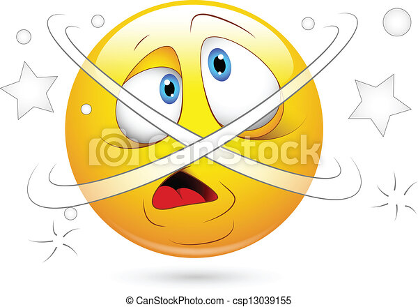 Dizziness Confused Smiley Face - csp13039155