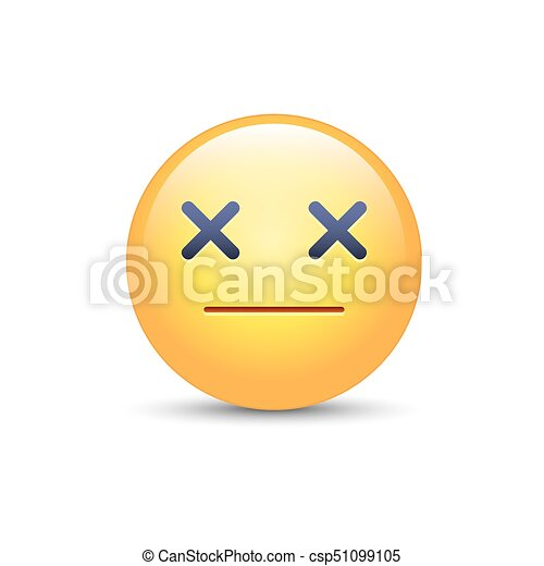 Dizzy emoji face  Cross eyes emoticon vector icon  Sad smiley